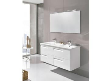 Conjunto mueble VITALE suspendido Fondo 46 + Lavabo SLIM, espejo y aplique