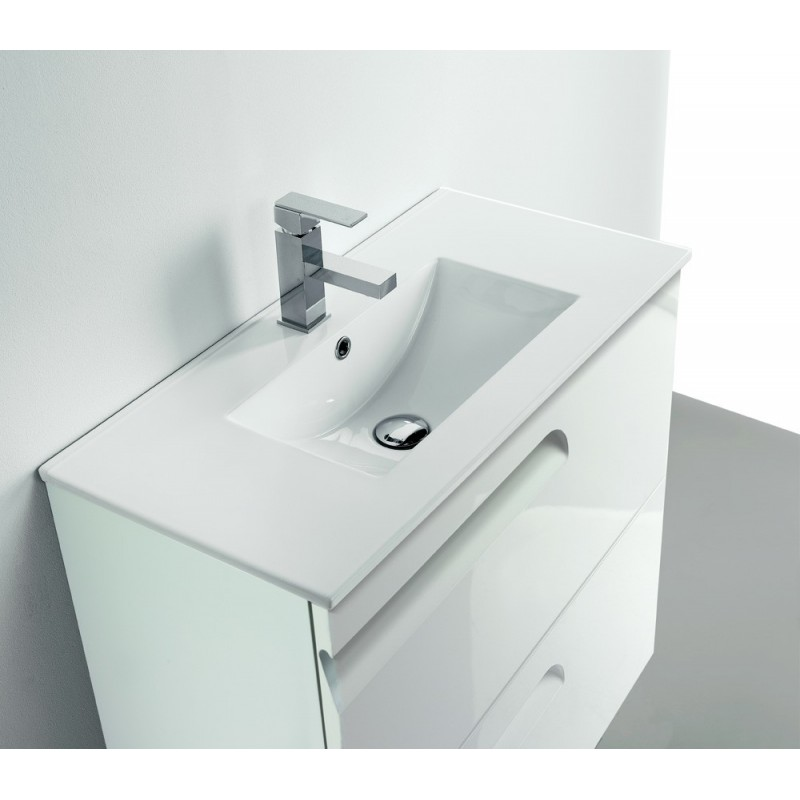 Mueble vitale lavabo spirit fondo reducido de 39 cm for Mueble lavabo fondo reducido