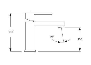 Monomando lavabo modelo TIZZIANO Negro Mate