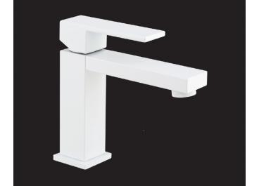 Monomando lavabo modelo TIZZIANO Blanco Mate