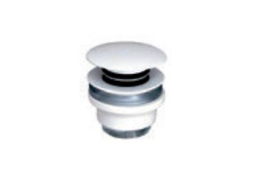 Válvula Cli-Clac adaptable a instalaciones antiguas, lavabos sin rebosadero Mate Blanco