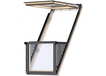 Ventana CABRIO blanca vidrio 66 superior