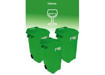 Kit estación de residuos 3 contenedores 120L