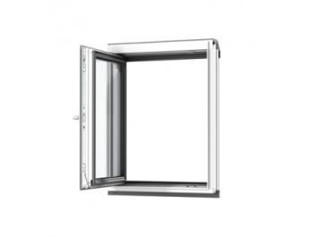 Ventana vertical para combinación blanco lacado apertura lateral