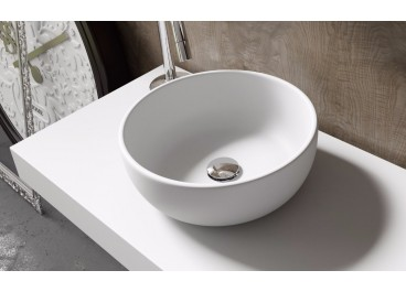 Lavabo Nicosia 38 cm Ø Solid Surface