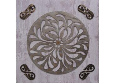 Cuadro tallado MANDALA 1 sobre lienzo 60x60
