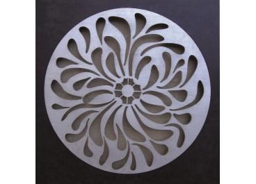 Cuadro tallado MANDALA 3 fondo madera de 50x50