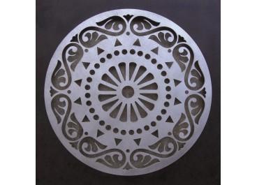 Cuadro tallado MANDALA 4 fondo madera de 50x50