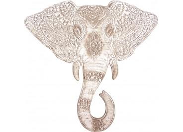 Cuadro tallado Elefante 60x60
