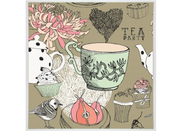 Cuadro TEA PARTY de 32x32