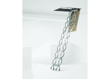 Escalera escamoteable de tijera  metálica ZX de techo
