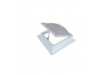 Claraboya cuadrada apertura manual bivalva