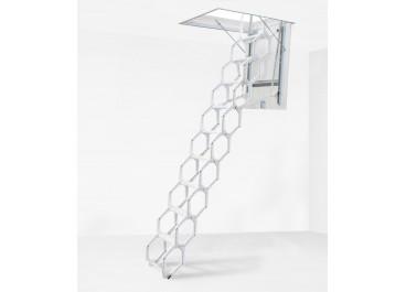 Escalera escamoteable de tijera metálica LX lacada