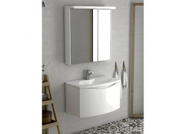 Conjunto mueble WAVE  Mueble + Lavabo+ espejo y aplique