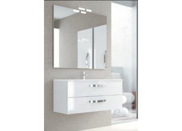 Mueble NEOS Mueble + Lavabo 2 Cajones Blanco brillo