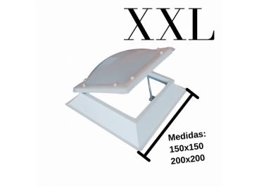 Claraboya Cuadrada Apertura Manual Bivalva XXL