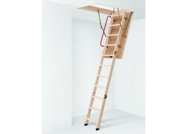 Escalera escamoteable madera 3 tramos LC-3 ISO