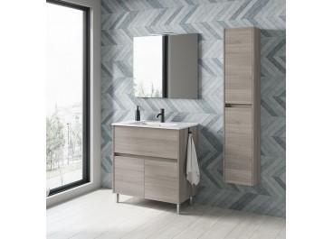 Mueble BAND fondo 46 + lavabo cajones y puertas