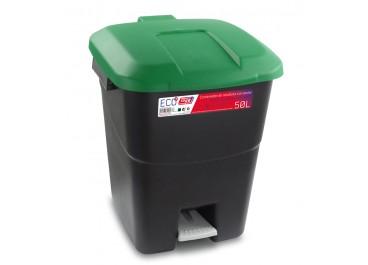 Kit estación de reciclaje 50L contendores con pedal