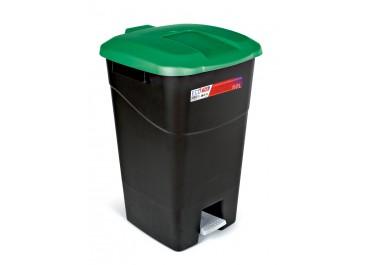 Kit estación de reciclaje 60L contendores negros pedal