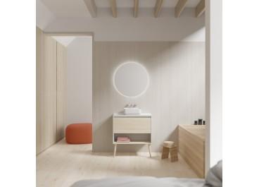 Mueble NARA TOP con patas fondo 45, 1 cajón y 1 hueco