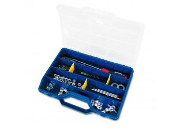 Estuches con separadores móviles azules