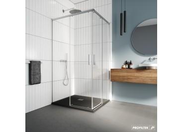 Mampara de ducha angular SALMA 2 fijas 2 correderas