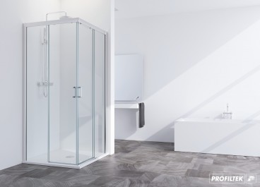 Mampara angular ducha SUMMER 2 fijos + 2 correderas
