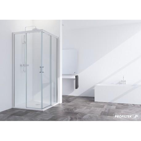 Mampara angularl ducha SUMMER SUM-320 2 fijo + 2 corredera