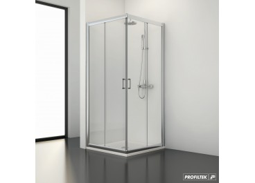 Mampara angular ducha SPRING 2 fijo + 2 corredera