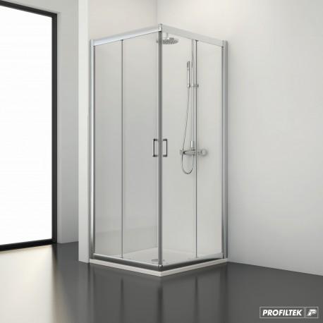 Mampara angular ducha  SPRING SPG-320 2 fijo + 2 corredera
