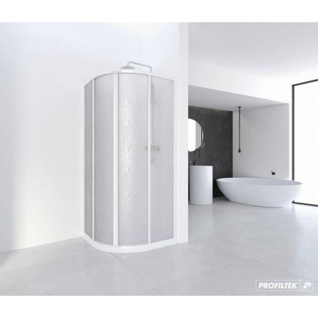 Mampara de ducha angular curva CUMUS