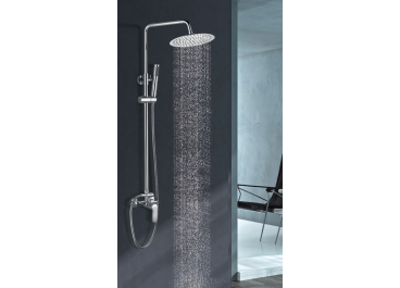 Conjunto de ducha monomando MISURI Cromo AquaSingle