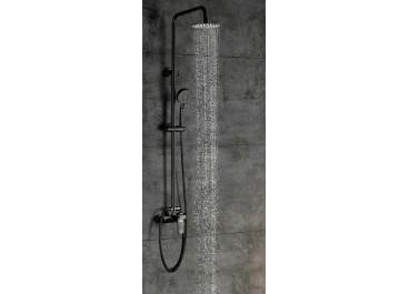 Conjunto de ducha monomando SAYRO Negro AquaSingle