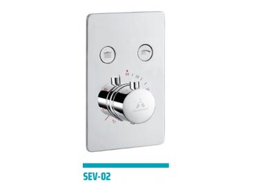 Distribuidor termostático empotrable SEVILLA 2 o 3 vías