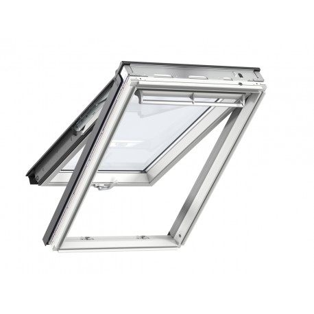 Ventana proyectante blanca vidrio 68